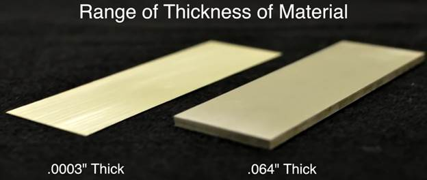 Material Thickness Capabilities