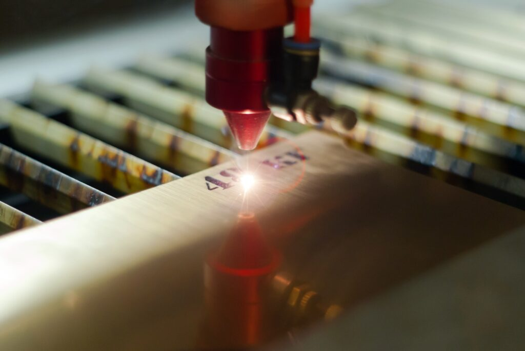 stage of manufacturing, laser engraving in automatic mode