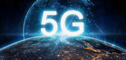 concept of future technology 5G network